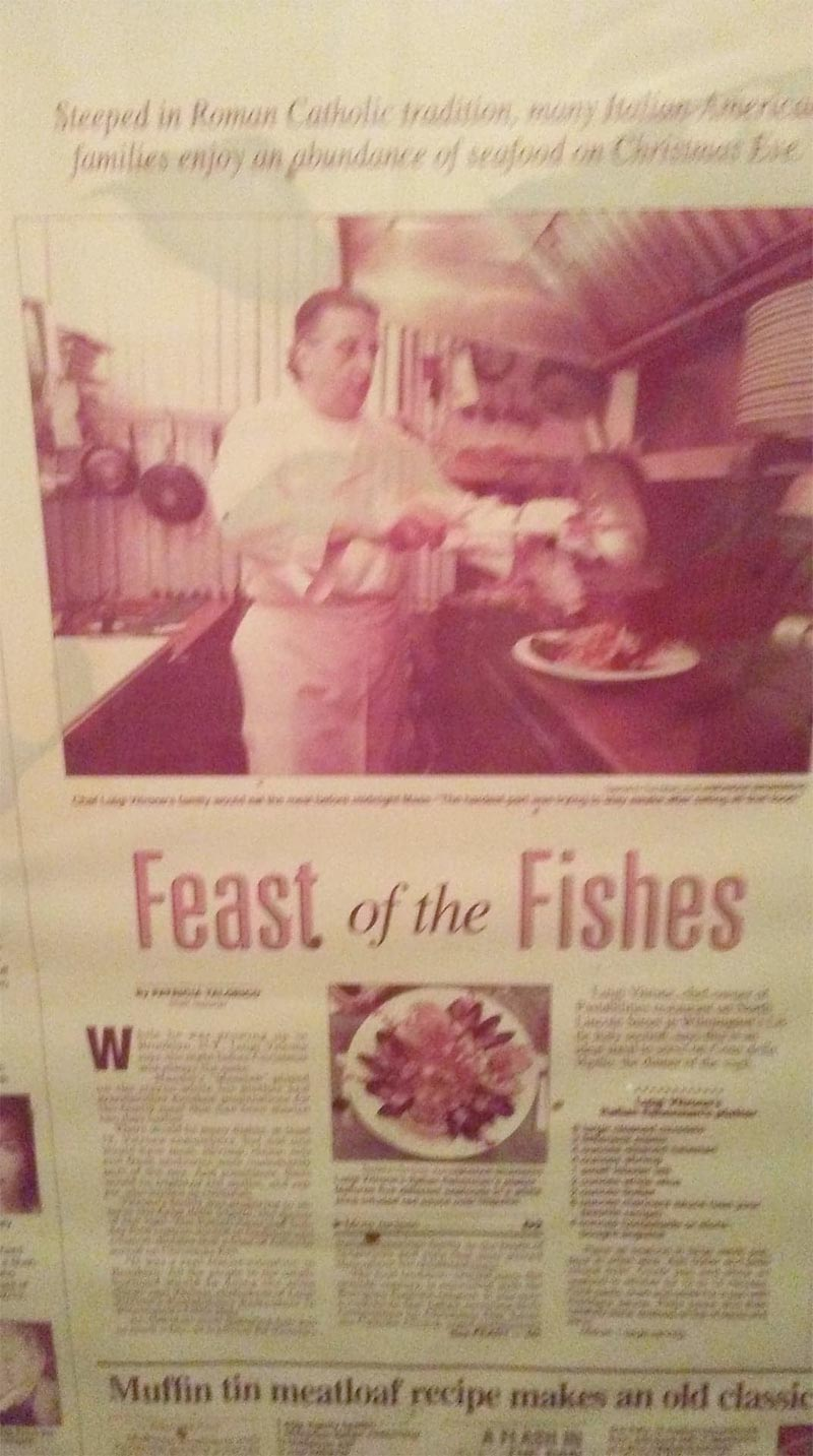 Feast of Seven Fishes at Pastabilities